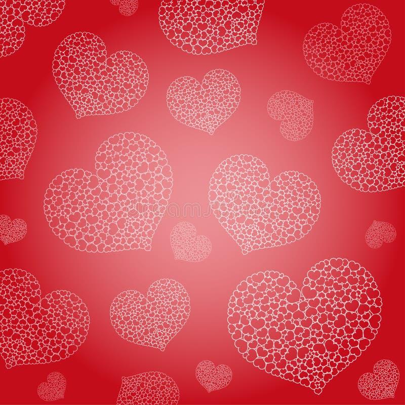 Le fond de Valentine illustration stock
