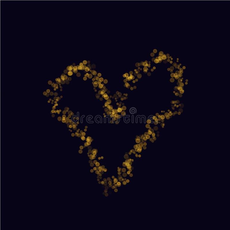 Le fond de vecteur de Valentine Day avec des étincelles scintillent forme de coeur Conception de vacances illustration libre de droits