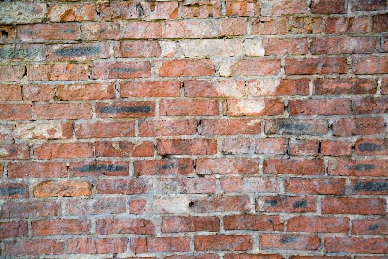 Le fond des vieux milieux de mur de briques images libres de droits