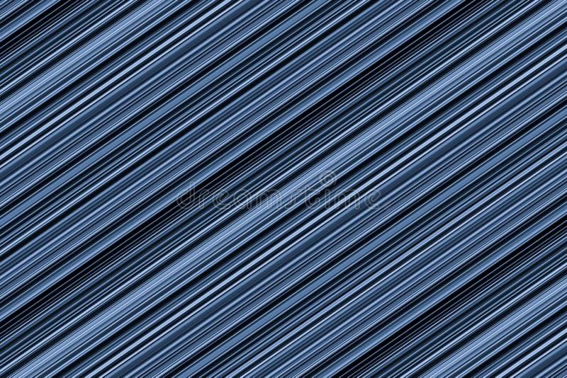 Le fond diagonal a nervuré les lignes brillantes série brillante foncée de texture en métal de base d'encre bleue sans fin illustration libre de droits