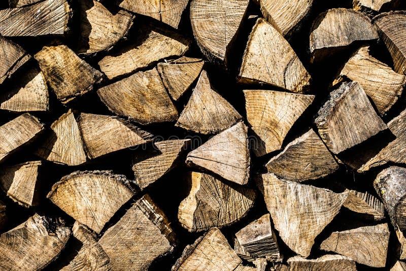 Le fond du bois de chauffage Vieil arbre photos libres de droits