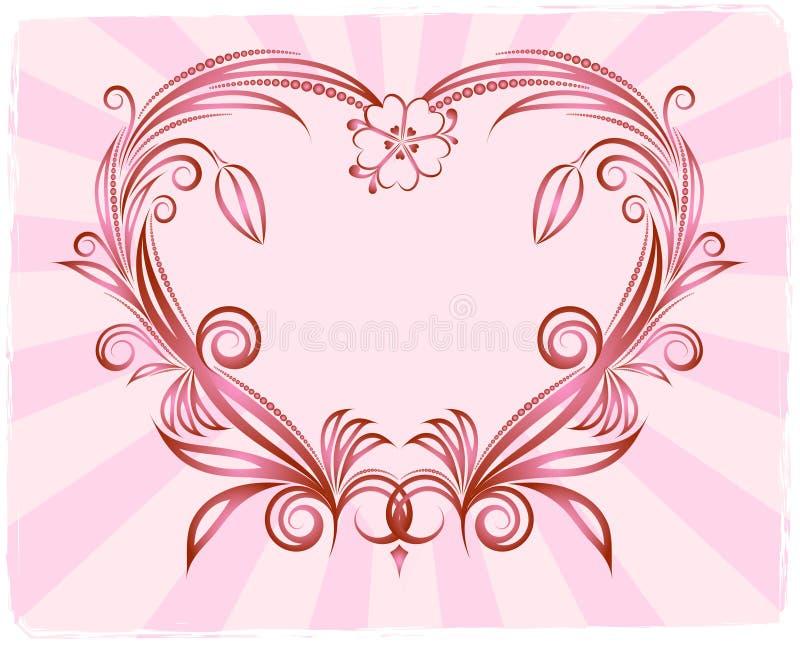 Le fond du coeur. illustration de vecteur