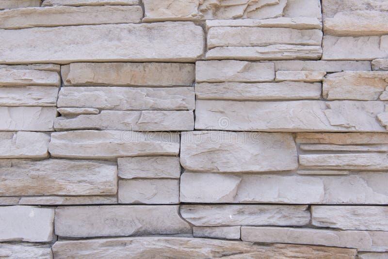 Le fond du mur de briques moderne de pierre d'ardoise a apprêté pour la conception photo libre de droits