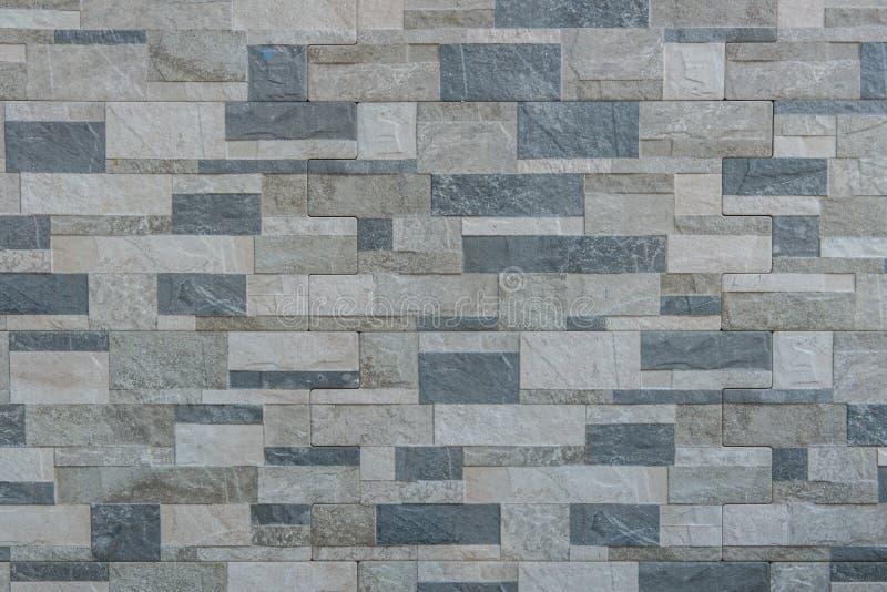 Le fond du mur de briques moderne de pierre d'ardoise a apprêté pour la conception photographie stock libre de droits
