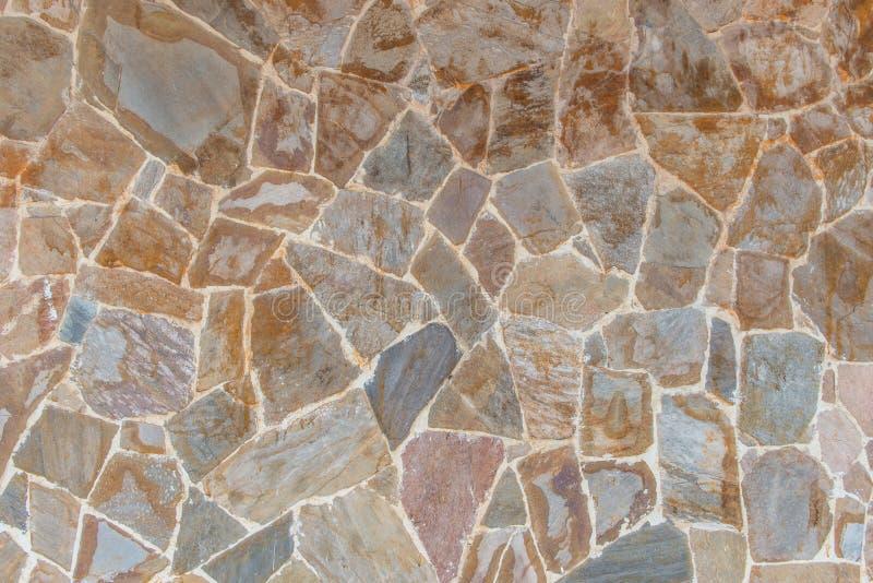 Le fond du mur de briques moderne de pierre d'ardoise a apprêté pour la conception photos stock