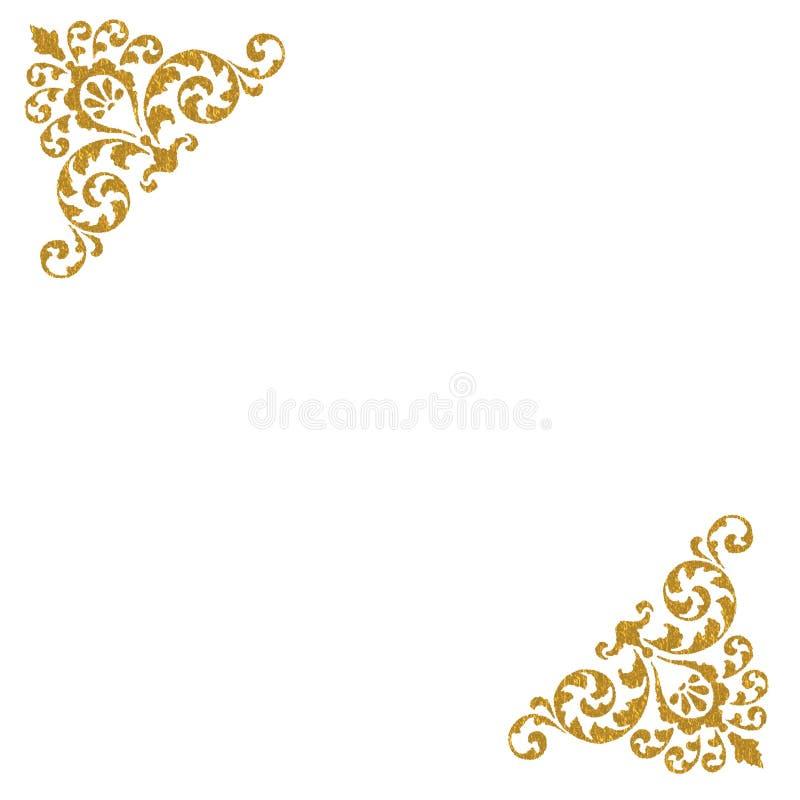 le fond effectue un virage l'or décoratif illustration de vecteur