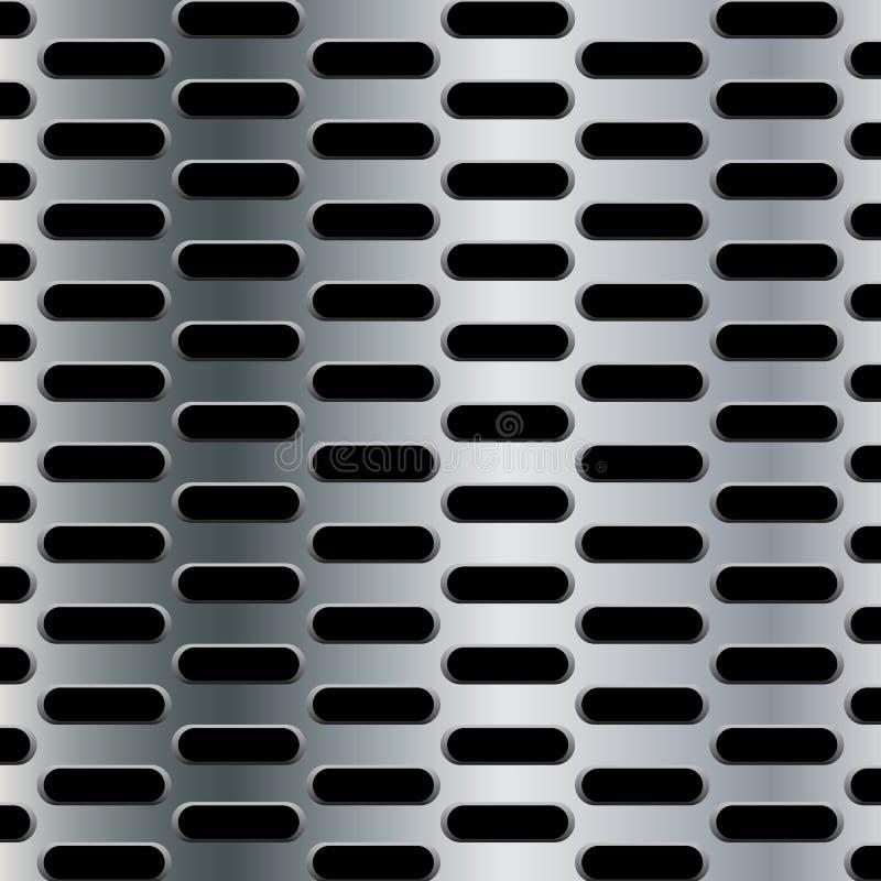 Le fond en acier avec l'ellipse sans couture a perforé le fond de texture de carbone illustration libre de droits