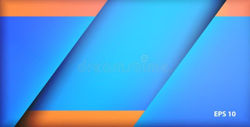 Le fond a fait de trois parts dans la couleur bleue illustration de vecteur