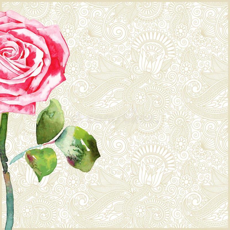 Le fond floral avec a monté illustration stock