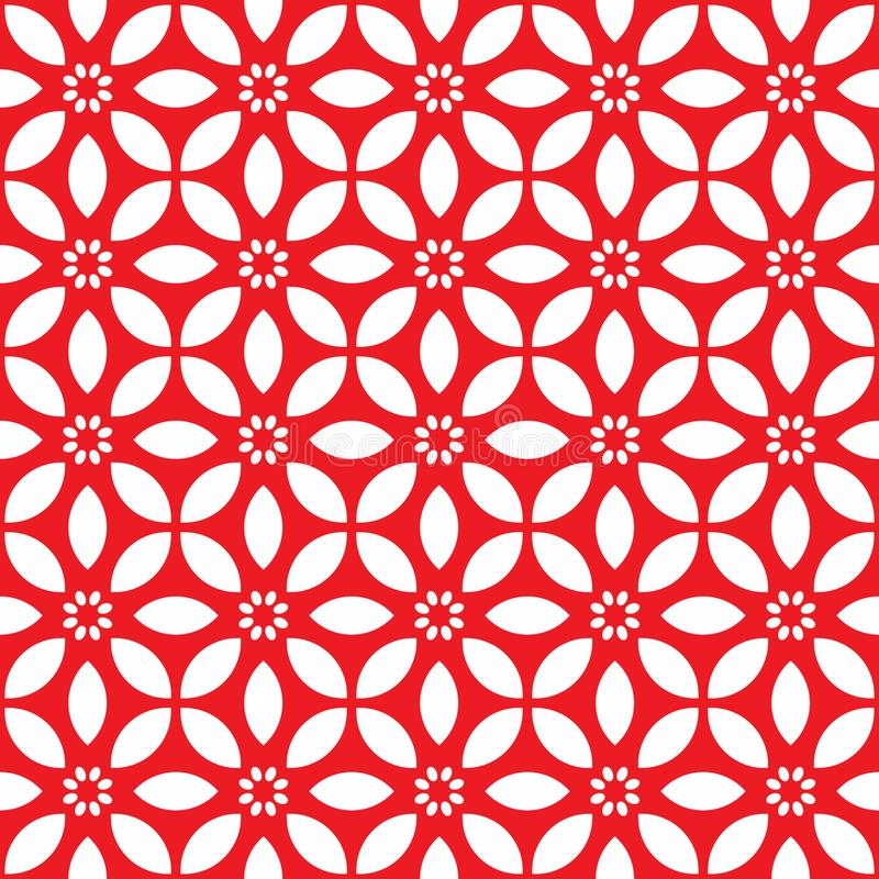 Le fond floral pour toute la conception introduit au clavier la couleur rouge avec le modèle de fleur illustration de vecteur