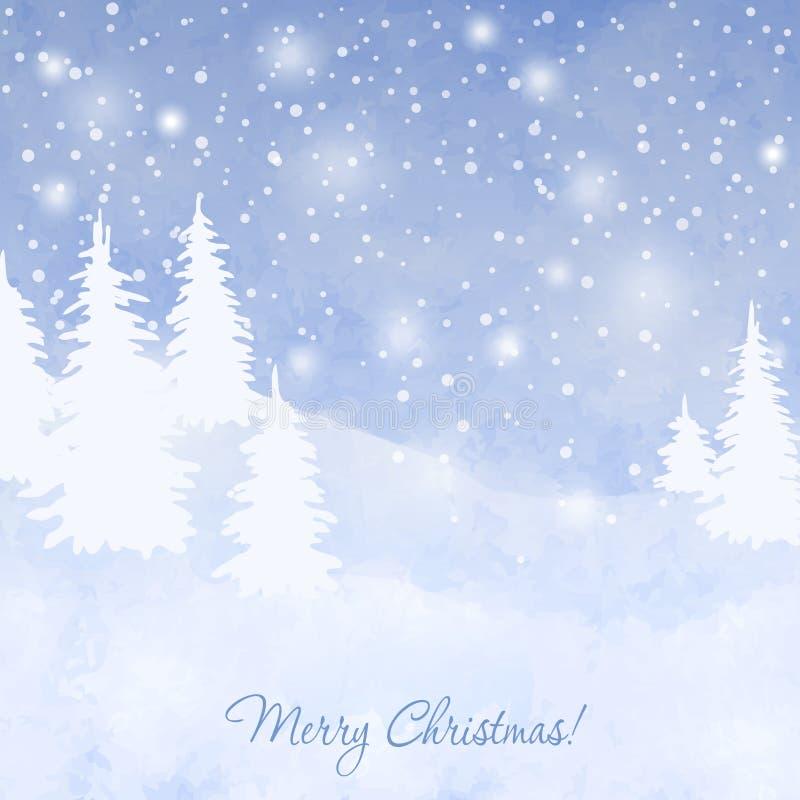 Le fond forrest de Noël illustration de vecteur