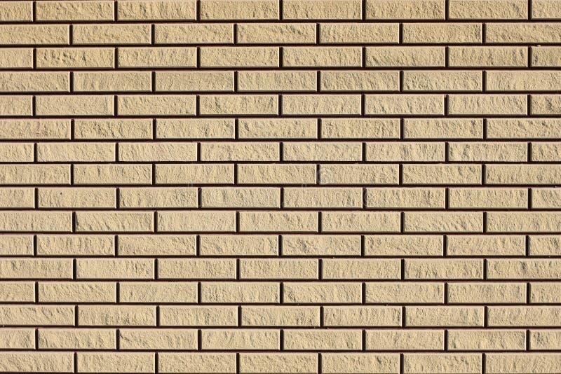 Le fond a fraîchement étendu le mur de briques propre dans un nouveau bâtiment, texture photos libres de droits