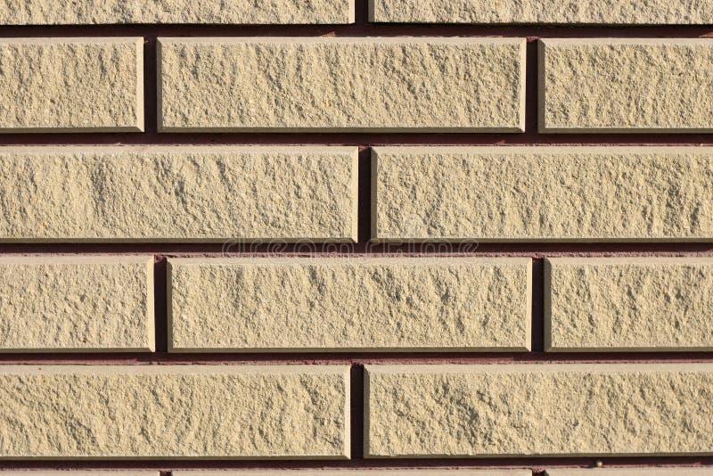Le fond a fraîchement étendu le mur de briques propre dans un nouveau bâtiment, texture image libre de droits