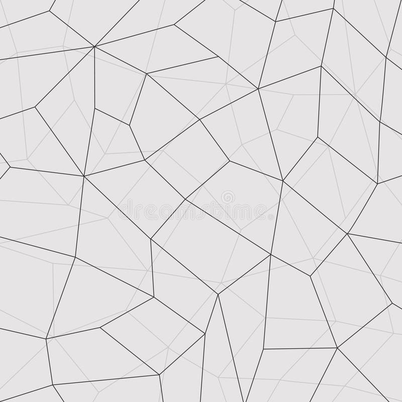 Le fond géométrique de mosaïque, relient des lignes Illustration de vecteur illustration de vecteur