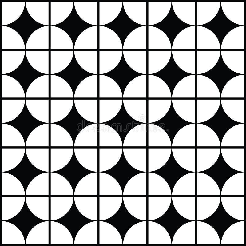 le fond géométrique noir et blanc modèle l'icône illustration libre de droits