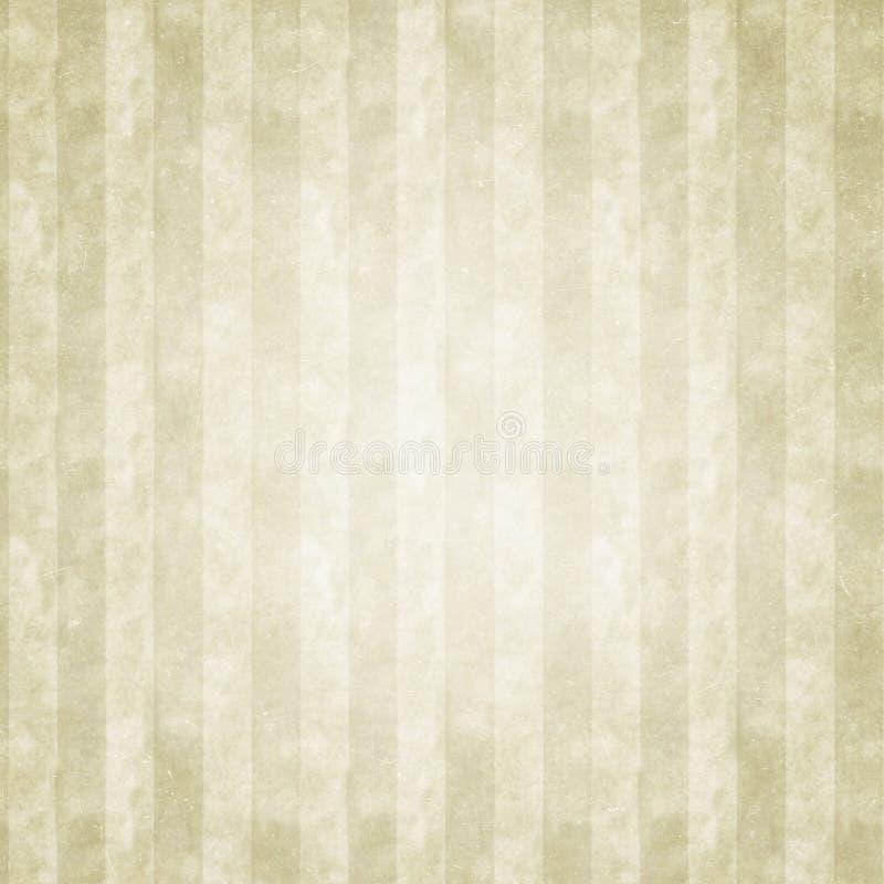 Le FOND GRUNGE a barré BEIGE, rétro, rayures, taches illustration de vecteur