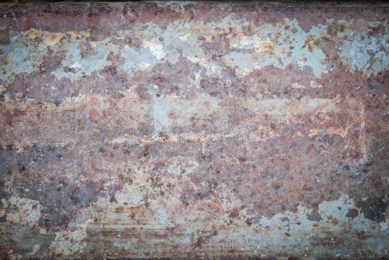 Le fond grunge de texture vieil en métal de rouille a affligé le papier peint photo stock