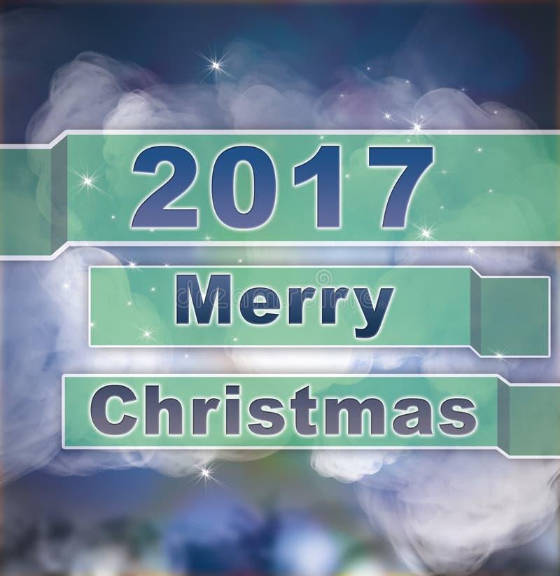 Le fond heureux de Joyeux Noël illustration stock