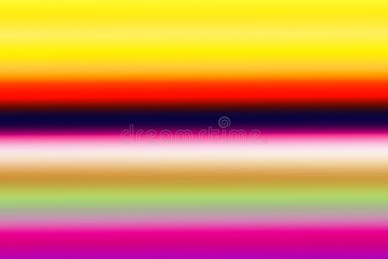 Le fond horizontal coloré d'abrégé sur lumineux arc-en-ciel, des couleurs multi a mélangé le fond de gradient illustration stock