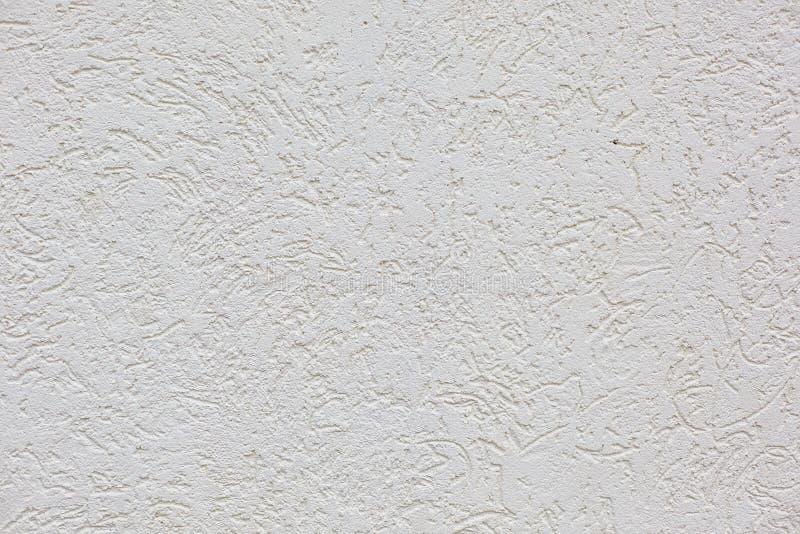 Le fond horizontal de mur de plâtre de ciment blanc photo libre de droits