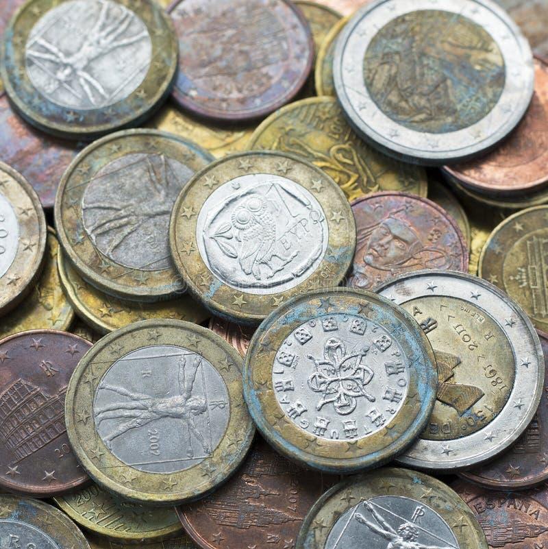le fond invente l'euro photographie stock libre de droits