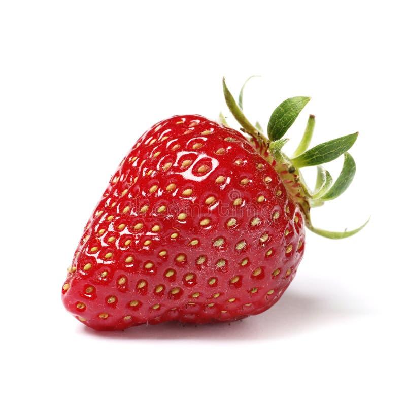 le fond a isol? le blanc de fraise photographie stock
