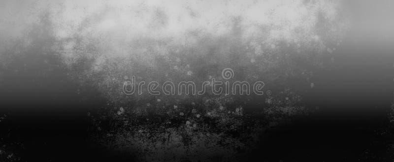Le fond noir et blanc avec la couleur industrielle rustique grise argentée, vieille texture en métal de cru, gradient a brouillé  illustration libre de droits