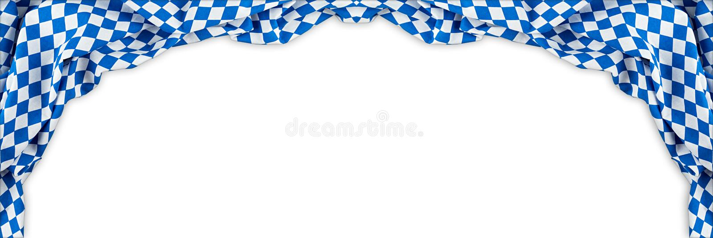 Le fond oktoberfest de panorama large bavarois de drapeau photo libre de droits