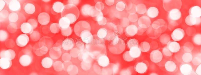 Le fond panoramique rouge de vacances, bokeh brouillé s'allume photos stock