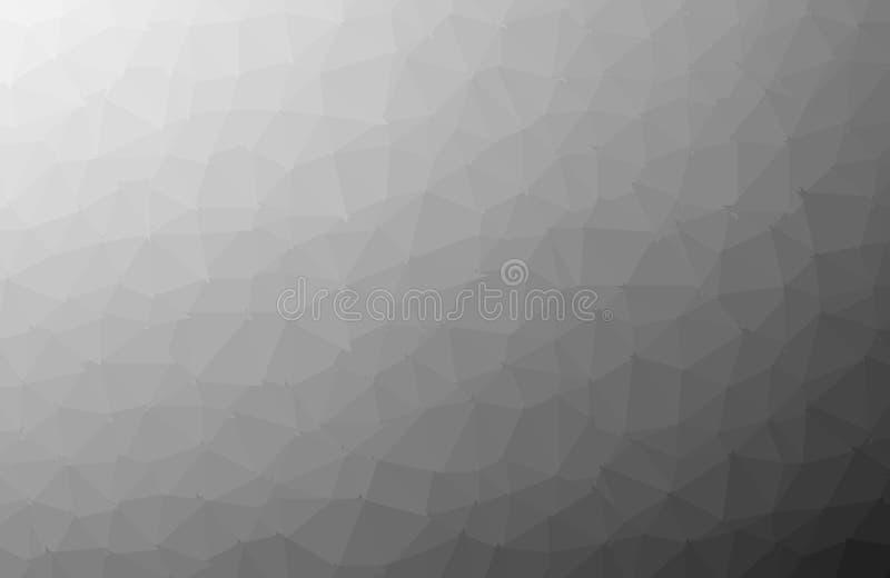 Le fond polygonal clair foncé noir de mosaïque, bas poly style, dirigent l'illustration, calibres de design d'entreprise illustration stock