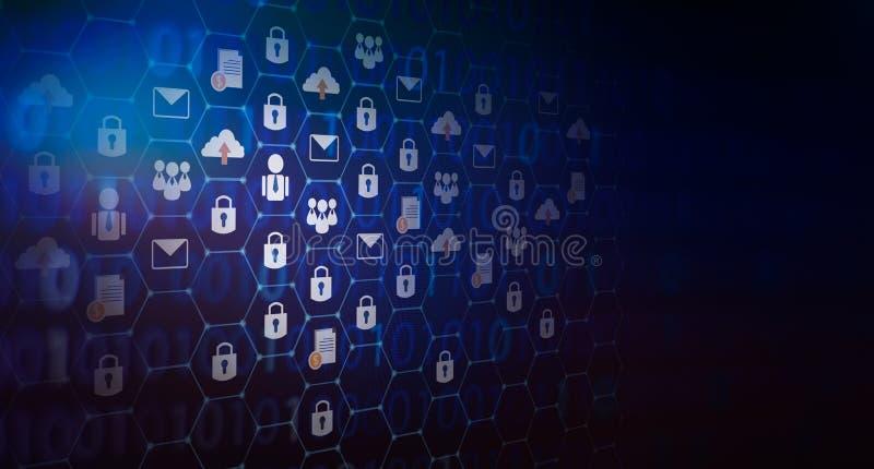 Le fond a pressé le monde de technologie d'abrégé sur système de sécurité de serrure de clé de carte du monde de sécurité de rése photo stock