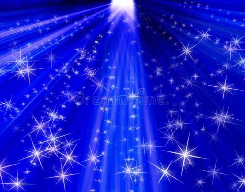 le fond rayonne des étoiles illustration stock