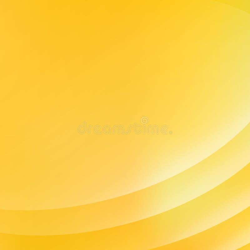 Le fond rose abstrait avec la courbe raye la lumière jaune douce illustration de vecteur