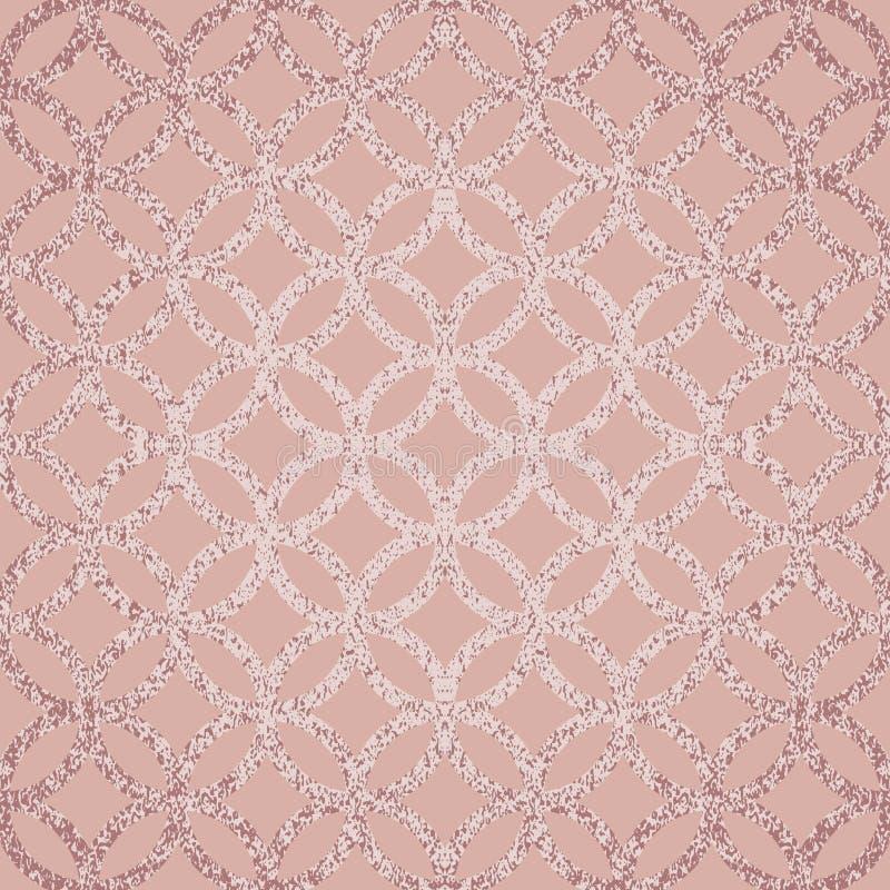 Le fond rose poussiéreux de scintillement s'est allumé au centre Texture grunge illustration stock