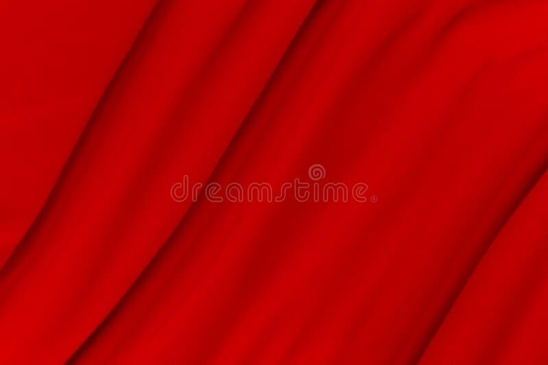 Le fond rouge abstrait avec la vague molle lisse propre peut employer en tant qu'épouser le fond et la conception luxueuse de fon photo stock