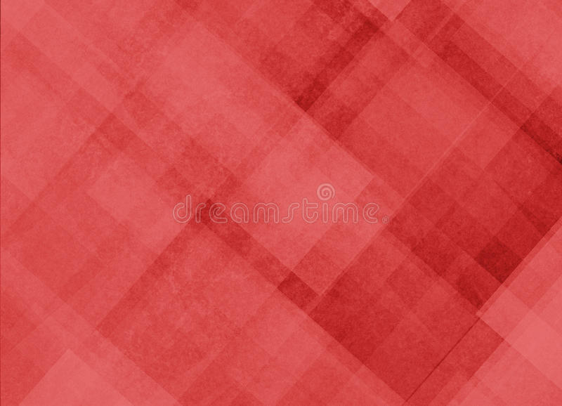 Le fond rouge avec les lignes diagonales abstraites et le rectangle bloquent des formes illustration stock