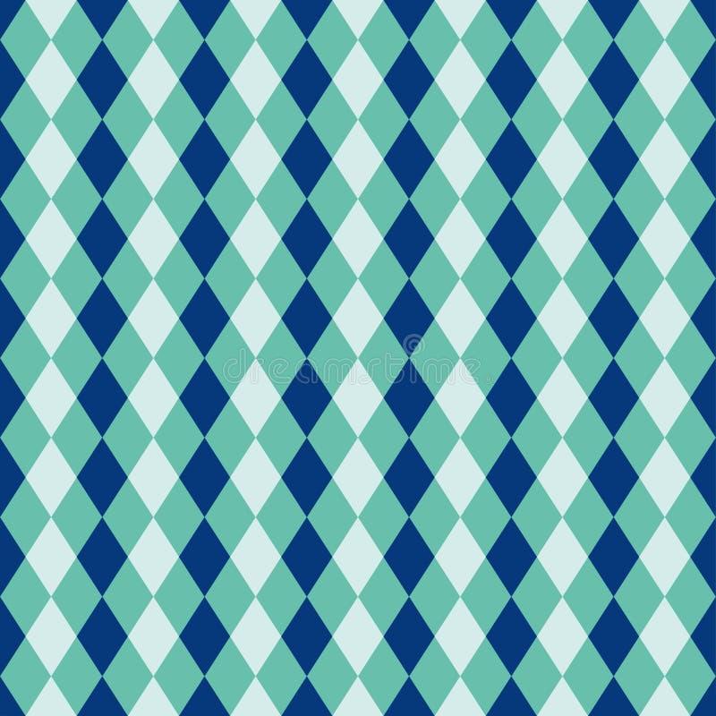 Le fond sans couture de harlequin de diamant de bleu et de turquoise modèlent la texture illustration libre de droits