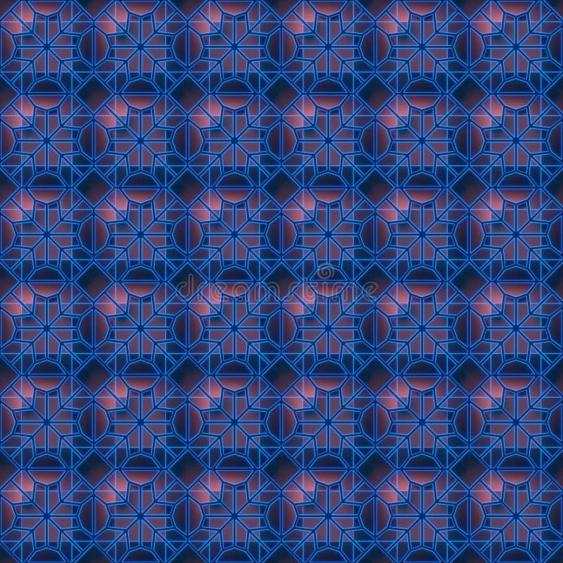 Le fond sans couture géométrique 3D de fil abstrait foncé rendent l'illustration illustration de vecteur