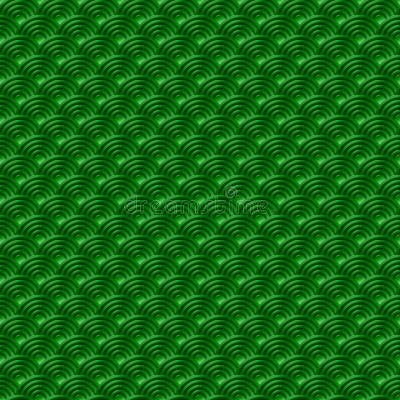 Le fond sans couture simple sans couture vert chinois de nature de modèle d'échelles de poissons de dragon de modèle avec le Japo illustration libre de droits