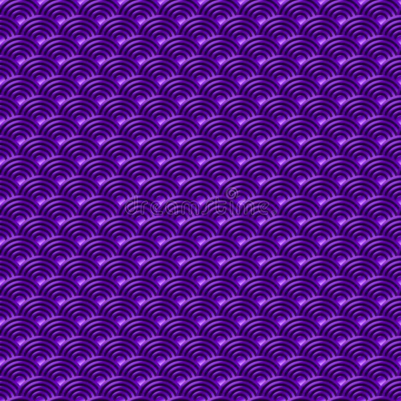 Le fond sans couture simple sans couture violet chinois de nature de modèle d'échelles de poissons de dragon de modèle avec le Ja illustration libre de droits