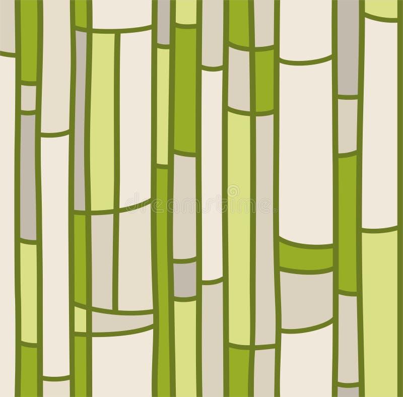 Le fond sans couture, verdissent le verre souillé illustration stock