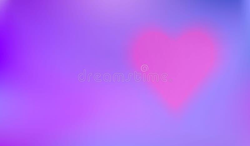 Le fond sensible avec le coeur aidera à créer une carte ou un Valentine romantique illustration de vecteur