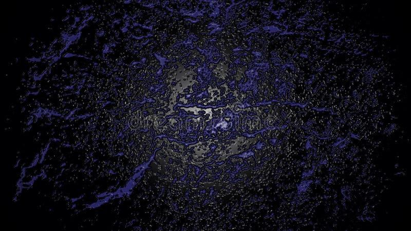 Le fond sous-marin profond avec l'ultraviolet bleu éclabousse photos stock