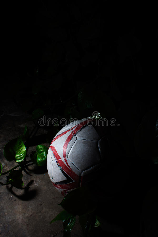 Le football à l'arrière-plan de nature photos libres de droits