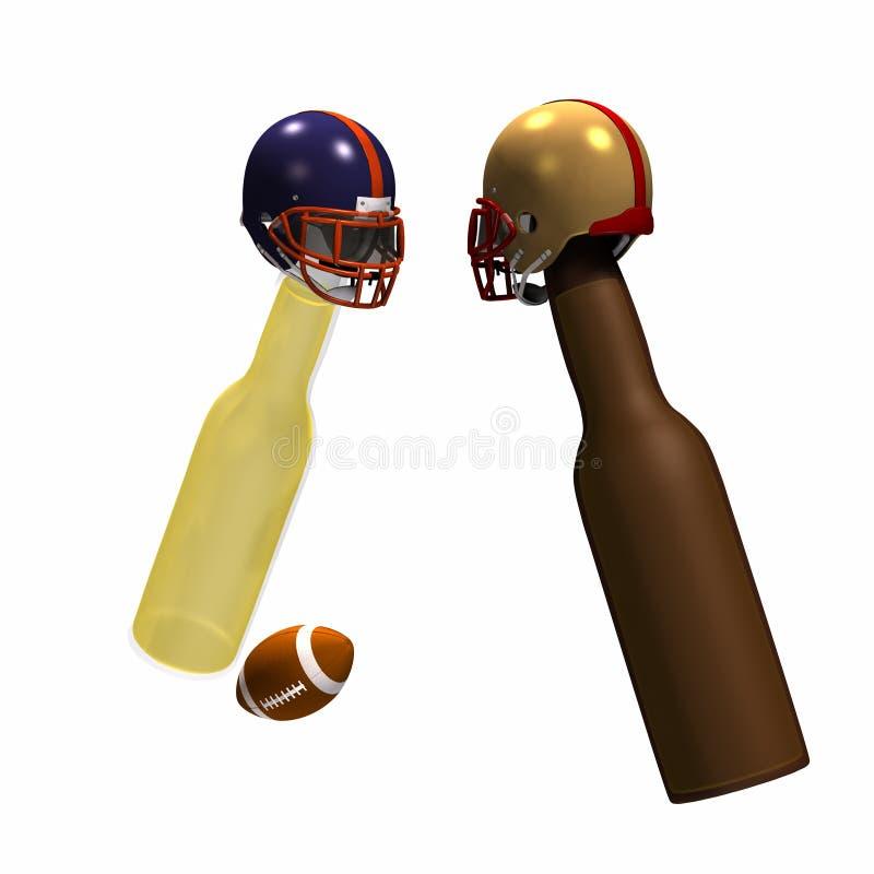 Le football 1 de bouteille à bière illustration de vecteur
