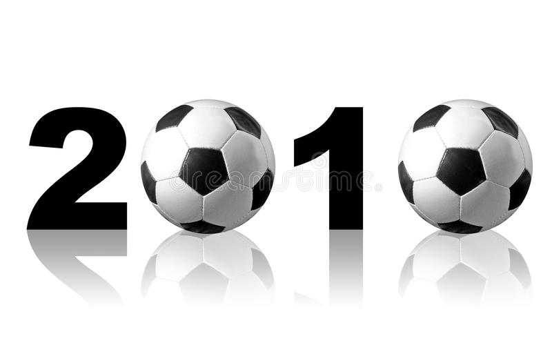 Le football 2010 illustration libre de droits