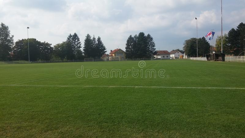 Download Le football photo stock. Image du soccer, zone, herbe - 77161554
