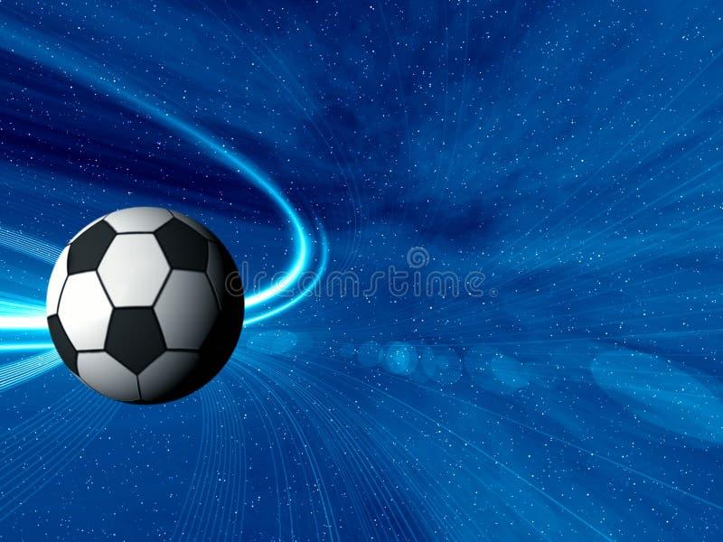 Le football. Abrégé sur l'espace illustration de vecteur