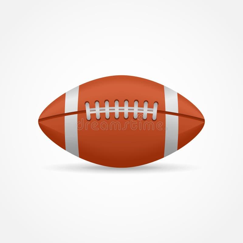 le football américain de découpage de fond a compris le blanc d'isolement de chemin illustration de vecteur