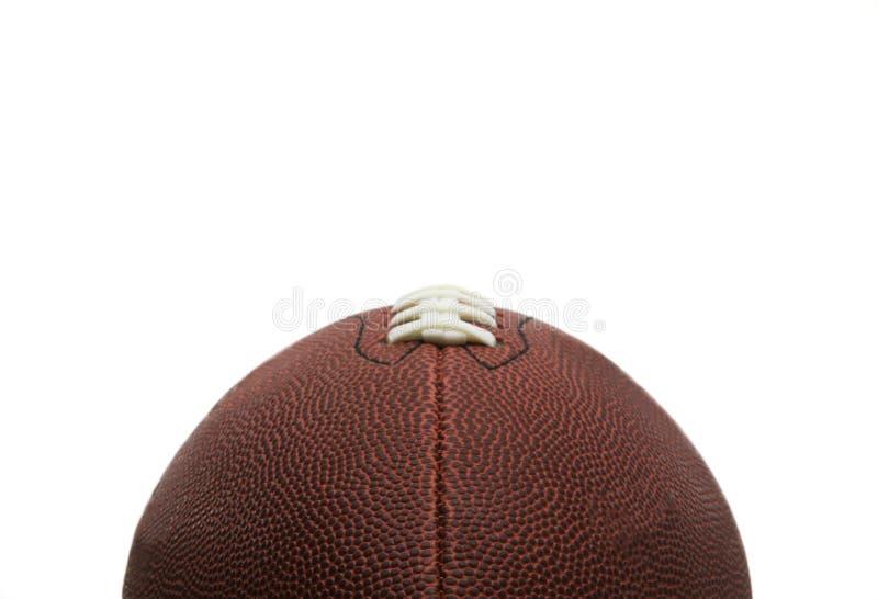 Le football américain de type, vue partielle image stock